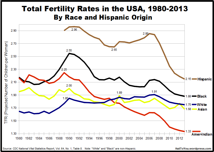 Surprisingly sharp drop in rate of U S  births since 2007 | Richard