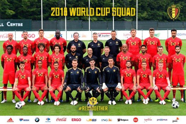 Above  Official Belgium World Cup team portrait (Twitter) e48075dff
