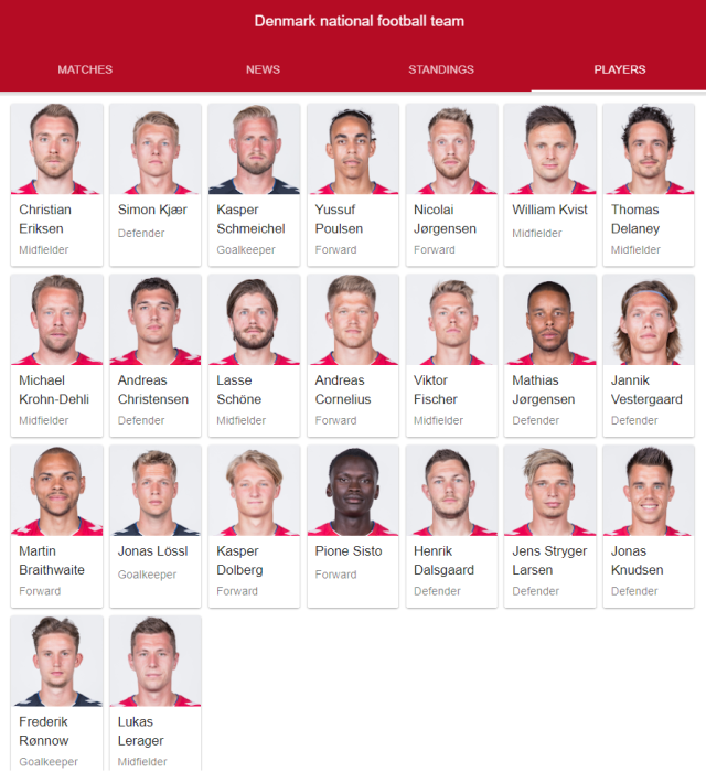 denmark national football team full 23 2018 google