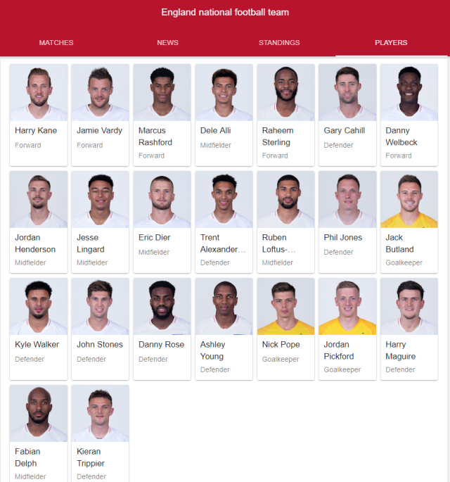 england national football team full 23 2018 google