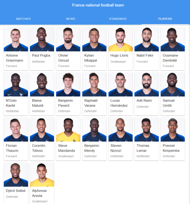 france national football team full 23 2018 google