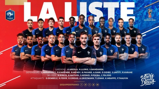 World Cup 2018  France Team  33% White 7f7868cb2