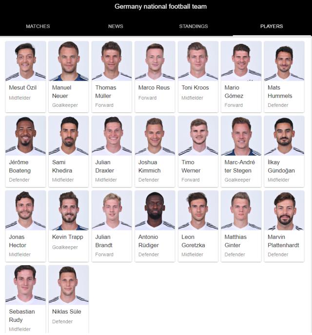 germany national football team full 23 2018 google