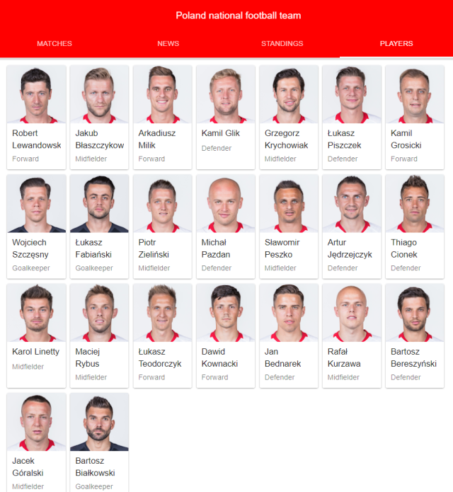 poland national football team full 23 2018 google