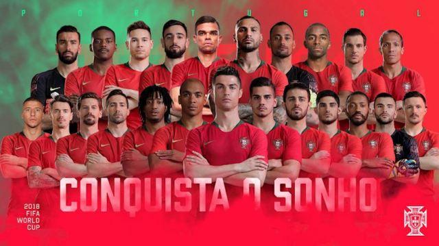 Portugal national team 2018 full portrait