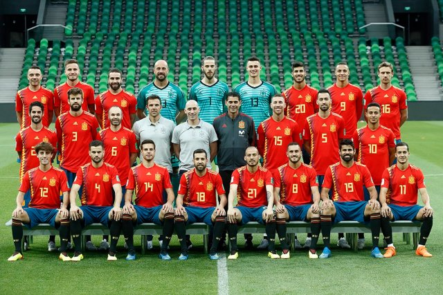 spain world cup 2018 full team pic