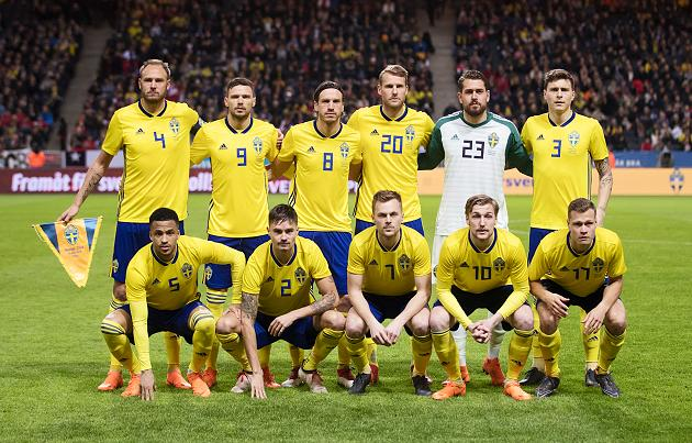 Sweden s starting eleven for a recent international game  Sweden s full-23  pic for World Cup 2018 (final squad announced in mid-May 2018) is not  available. 40741e98d