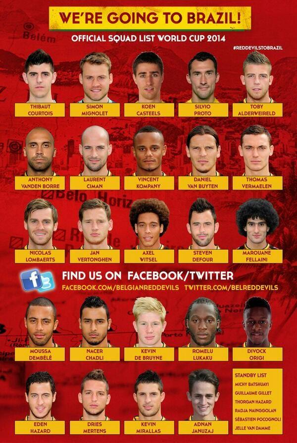 world cup 2014 belgium squad