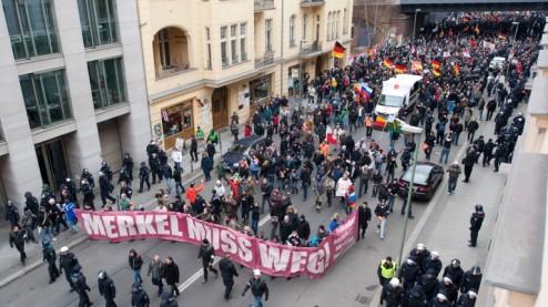 Merkel Muss Weg demo