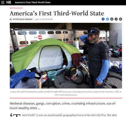 national reivew - americas first third world state