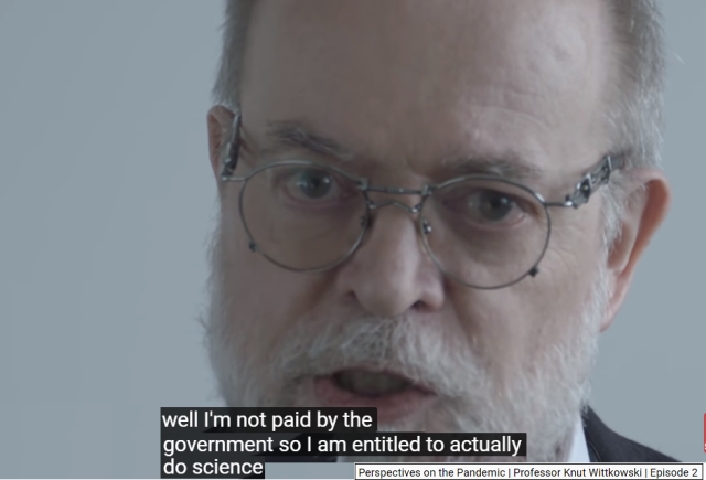 Knut Wittkowski - Not paid by the government entitled to actually do science